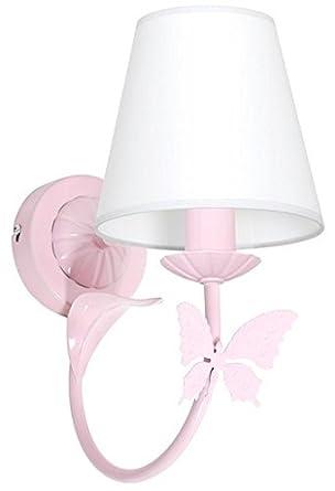 MINI MOTYL I / Butterfly Light pink Child Children Wall Light Lamp: Amazon.co.uk: Lighting