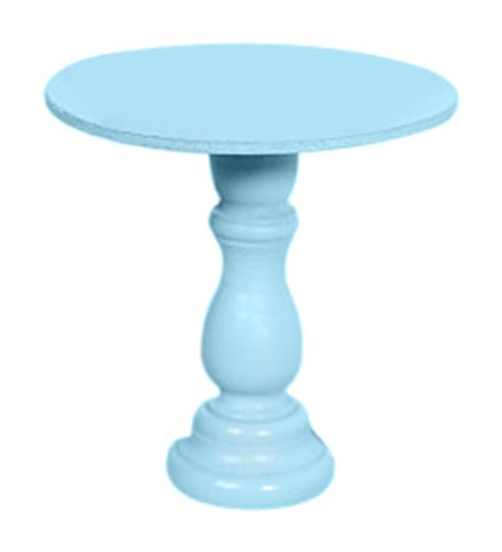 Dress My Cupcake Mini Wooden Cupcake Stand, Aqua Light Blue