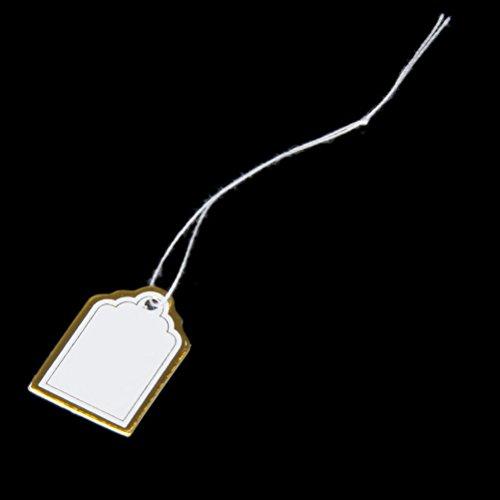 Pixnor Étiquettes de prix 500pcs étiquette rectangulaire prix Tags pour l'écran de vente montre bijoux