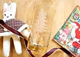 【限定うさぎオーナメント付】 マニー クリスマス ガラス タンブラー(Y)