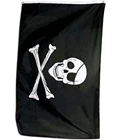 Pirate Flag Jolly Roger with Patch 3x5 ft 3 x 5 NEW