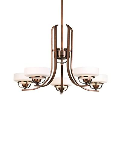 Progress Lighting Torque Chandelier, Copper Bronze