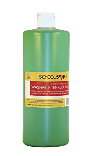School Smart Washable Tempera Paint - Quart - Green