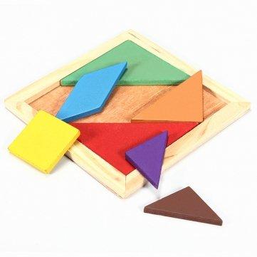 Man Friday Rainbow Color Holz Tangram 7 Stück Puzzle Gehirnjogging Puzzle