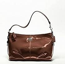 COACH Madison Patent Top Handle Demi in Copper 46619