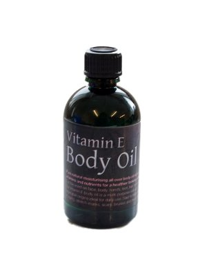 Vitamin E Body Oil (100ml), from Natural Sources. For Direct Use on Face, Neck, Hands, Hair and Body. Very Rich Oil for Scars, Stretchmarks, Fine Lines, Very Dry, Mature and Sensitive Skin from SheaByNature
