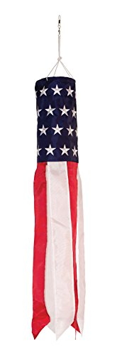In the breeze stars and stripes embroidered value windsock Stars and stripes home decor