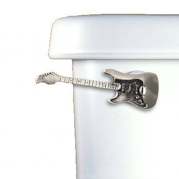 Guitar Toilet Flush Handle -Satin Pewter- Front Mount