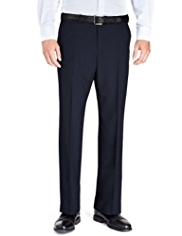 Soft Touch Active Waistband Crease Resistant Flat Front Trousers