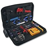 Electronics toolkit supplied within a handy zipped tool bag