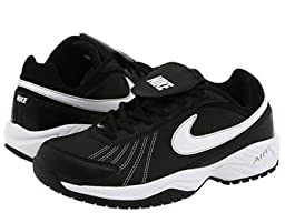 Men\'s Nike Air Diamond Baseball Training Shoe Black/Metallic Silver/White Size 9 M US