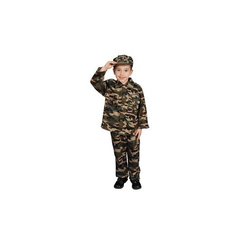 Pretend Military Deluxe Army Child Costume Dress-Up Set Size 12-14