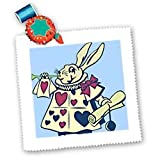 Magical Rabbit - Fun and Whimsical Art - Alice in Wonderland - 10x10 Quilt Square