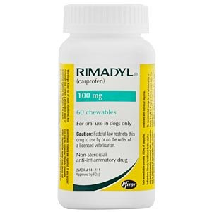 Rimadyl (carprofen) Chewables - 100 Mg X 60 Count Picture