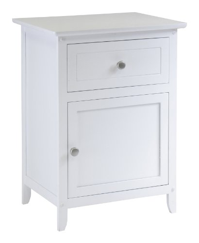 Winsome Night Stand/ Accent Table with Drawer and cabinet fo