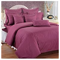 Swayam Sonata Jazz Cotton Double Bedsheet Set - Wine (JAZZ 01-WINE)