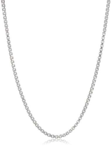 Sterling Silver 16″, 20″ and 30″ Box Chain Necklace, Set of Three