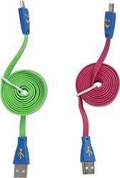 Kitashy Smiley Data Cable USB Cable(Multi Color)