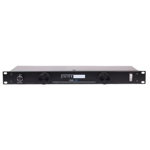 Juice Goose Jg 8Led Rack Mount Power Distributor With Led Rack Lights 15 Amp 8 Outlets