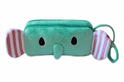 Cheapest J.SIMPLE Soft Short Plush Cute Cartoon Bi-layer Zipper Cosmetic Bag Makeup Organizer Insert - Various Designs Available from Jsimple - Free Shipping Available