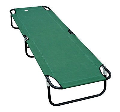 Outdoor Portable Army Military Folding Camping Bed Cot Camp Hiking Green front-66418