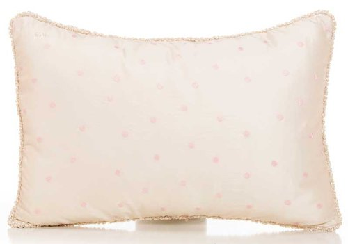 Glenna Jean Victoria Sham with Cord, Pink Dot, Small