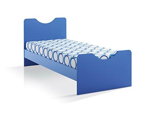 Letto singolo per cameretta articolo 1101 - rete cm 190*80 compresa nel prezzo. Colore Blu
