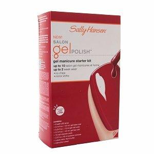 Sally Hansen Salon Gel Starter Kit, Red My Lips 1 Ea
