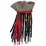 Captain Jack Sparrow Pirates of the Caribbean Hat with Hair for Boys ~ Disney