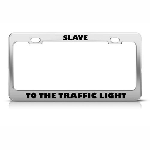 Honda accord license plate frame black PLASTIC Brushed aluminum text