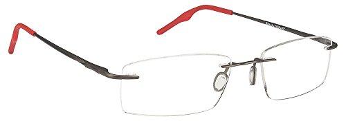 Vincent Chase VC 6484 Matte Gunmetal Red C2 Eyeglasses(102979)