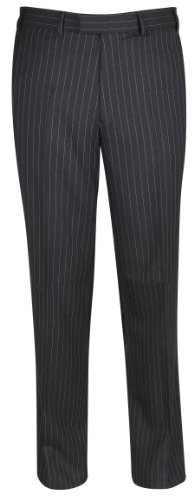 Brook Taverner Epsom Suit Trousers in Grey Pinstripe 30S