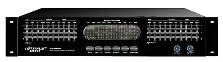2Ru Rack Mount 10 Channel Stereo Equalizer With Spectrum Display With Headphones