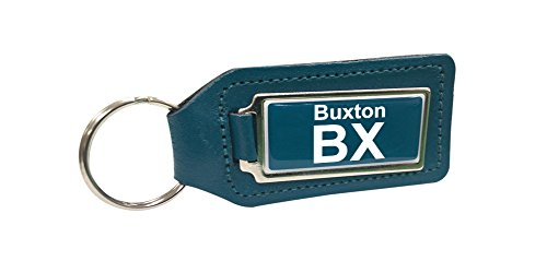 buxton-train-depot-turquoise-porte-cles-en-cuir
