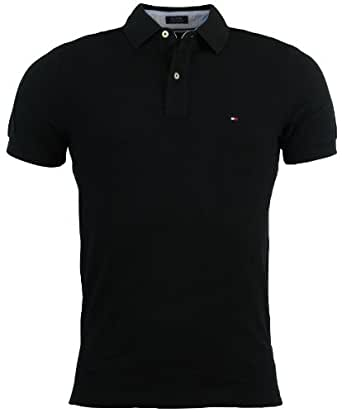 Tommy hilfiger mens custom fit solid color polo shirt l for Custom polo shirts canada