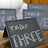Small Freestanding Blackboard Table Number Signs, Chalkboard, Pack of 6
