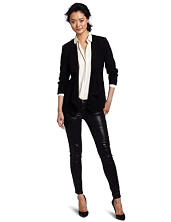 French Connection Women's Classic Connie Crepe Jacket, Black, 0