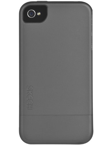 Skech Hard Rubber Two-Piece Hard Shell Protection & Slim Case For IPhone 4/4s - Grey