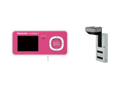 Panasonic ワイヤレスドアモニター ドアモニ チェリーピンク ワイヤレスドアカメラ+モニター親機 各1台セット VL-SDM100-P