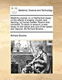 Medicina musica: or, a mechanical essay on the effects of singing, musick, and dancing, on human bodies. Revis'd and corrected. To which is annex'd, a ... spleen and vapours. By Richard Browne, ... (1171367767) by Browne, Richard