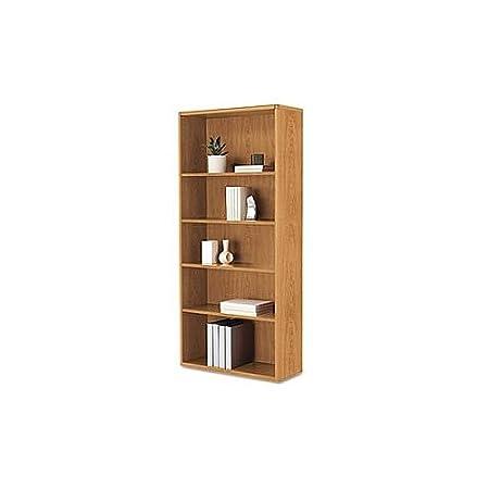 HON 10700 Series Bookcase, 5 Shelves/3 Adjustable, 32-3/8w x 13-1/8d x 71h, Harvest H107569.CC