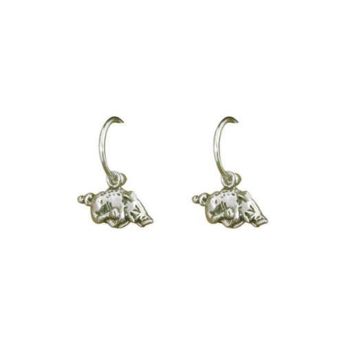 NCAA Arkansas Razorbacks Silver Tone Earrings at Amazon.com