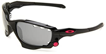 Oakley Womens Jawbone 24-274 Iridium Wrap Sunglasses,Polished Black Frame/Black Lens,One Size