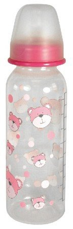 Stephan Baby Bear Bottle 8oz BPA Free - Pink - 1