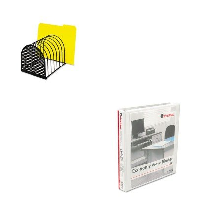 KITFEL22304UNV20962 - Value Kit - Fellowes Perf-Ect Desk File (FEL22304) and Universal Round Ring Economy Vinyl View Binder (UNV20962)