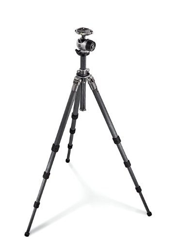 Gitzo GK2580QR Series 2 Carbon 6X 4S Center Ball QR Kit with GH2780QR Quick Release Center Ball Head and GT2541 Tripod (Black)