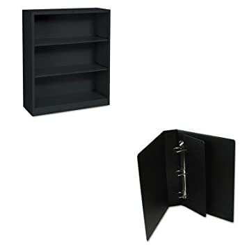 KITCRD14532HONS42ABCP - Value Kit - Cardinal Legal Binder with Slant-D Ring (CRD14532) and The HON Company HON Brigade 3-Shelf Steel Bookcase, Black (HONS42ABCP)