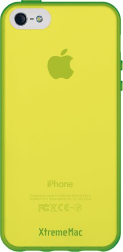 Xtrememac Microshield Accent Custodia Protettiva Con Bordo Gommato Per Apple Iphone 5/5S Accessorio Per Cellulare Smartphone, Verde/Giallo