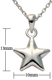 Silver Pendant - star design - Comes with 16' silver link chain. Beautifully designed and hand polished to a very high jewellery standard. delicately packed in a lovely velvet pouch. You can buy the matching earrings also: see menu below