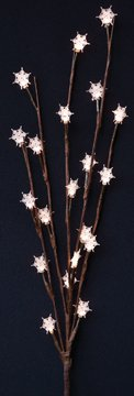 Snowflake Lighted Led Willow Branch Battery Powered Country Primitive Christmas Holiday Floral Decor